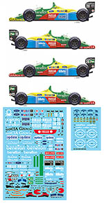 VECTOR MAGIC 1/20 BENETTON B188 1988-1989 7 RACES + 5 DRIVER HELMET