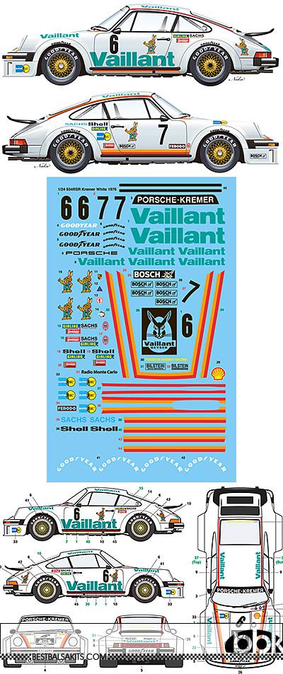 VECTOR MAGIC 1/24 PORSCHE RSR 934 VAILLANT KREMER 1976