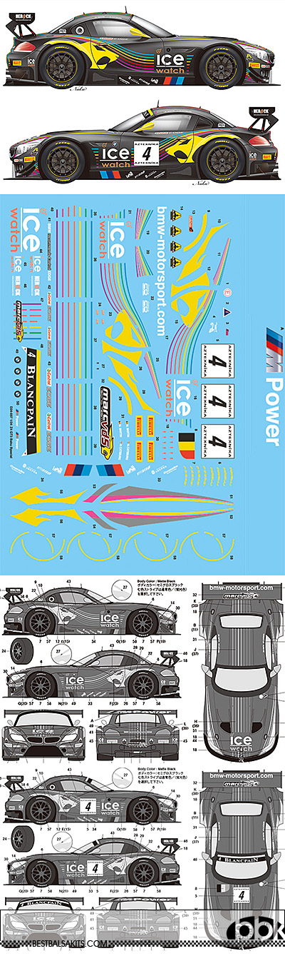 VECTOR MAGIC 1/24 1/24 BMW Z4 GT3 2013 BAKU WORLD CHALLENGE MARC VDS
