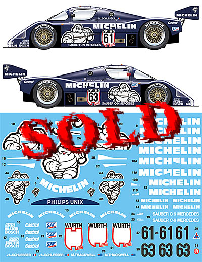 VECTOR MAGIC 1/24 SAUBER C9 1987 SUPER CUP NURNBURGRING WINNER