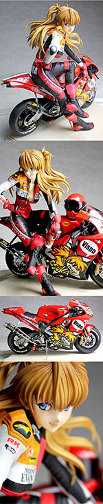 VISPO 1/6 BIKINI ASUKA SITTING SIDEWAYS ON BIKE