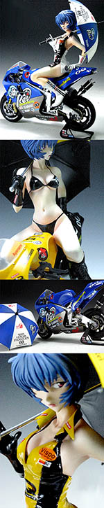 VISPO 1/6 BIKINI REI HOLDING UMBRELLA SEATED ON BIKE